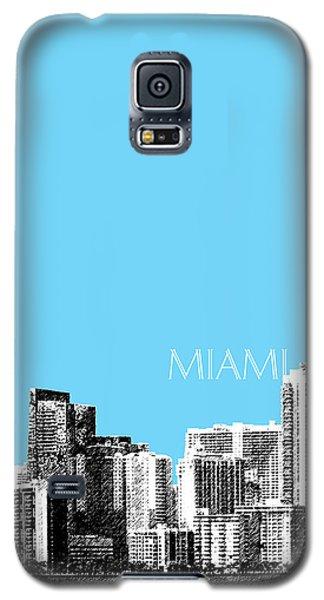Miami Skyline - Sky Blue Galaxy S5 Case by DB Artist