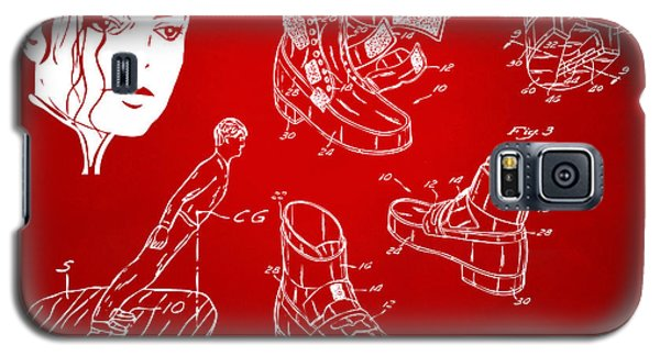 Michael Jackson Anti-gravity Shoe Patent Artwork Red Galaxy S5 Case by Nikki Marie Smith