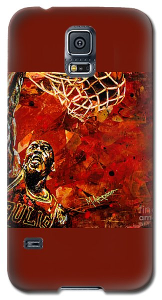 Michael Jordan Galaxy S5 Case by Maria Arango