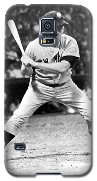 Mickey Mantle At Bat Galaxy S5 Case by Underwood Archives