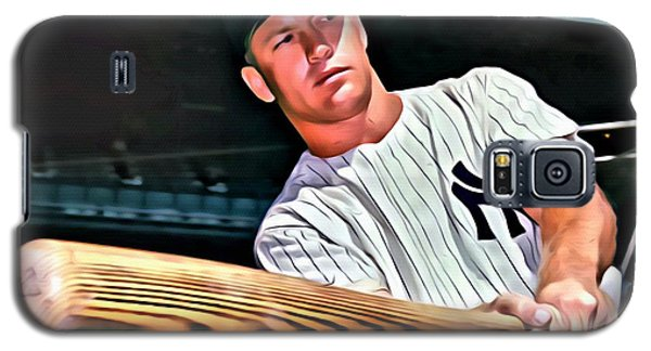 Mickey Mantle Painting Galaxy S5 Case by Florian Rodarte