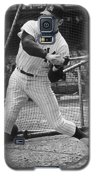 Mickey Mantle Poster Galaxy S5 Case by Gianfranco Weiss