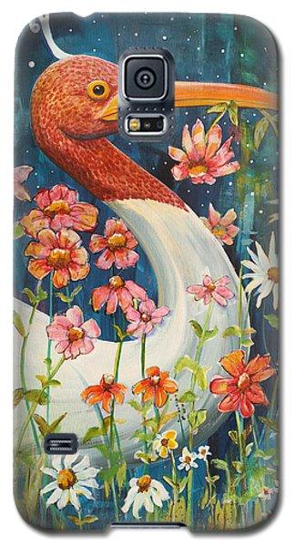 Midnight Stork Walk Galaxy S5 Case by Blenda Studio