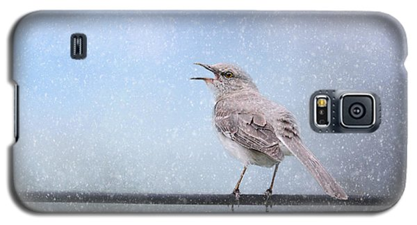 Mockingbird In The Snow Galaxy S5 Case by Jai Johnson