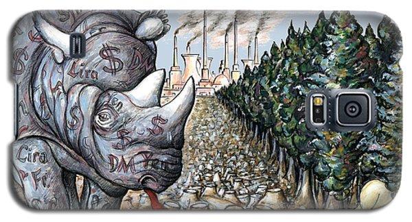 Money Against Nature - Cartoon Art Galaxy S5 Case by Art America Online Gallery