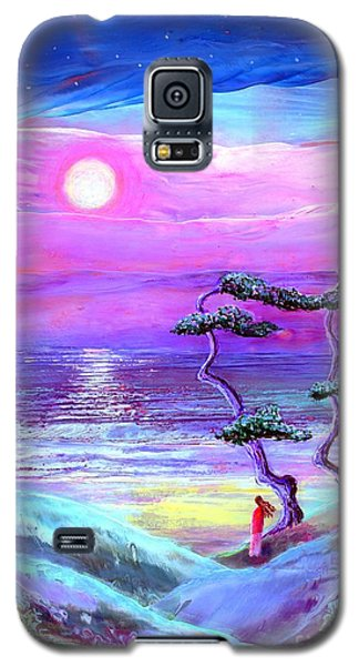 Impressionism Galaxy S5 Cases - Moon Pathway Galaxy S5 Case by Jane Small