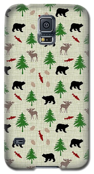 Moose And Bear Pattern Galaxy S5 Case by Christina Rollo