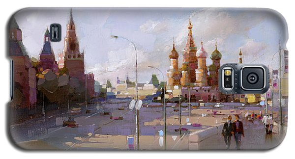 Moscow. Vasilevsky Descent. Views Of Red Square. Galaxy S5 Case by Ramil Gappasov