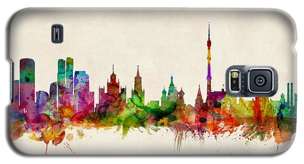 Moscow Skyline Galaxy S5 Case by Michael Tompsett