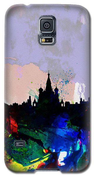 Moscow Watercolor Skyline Galaxy S5 Case by Naxart Studio