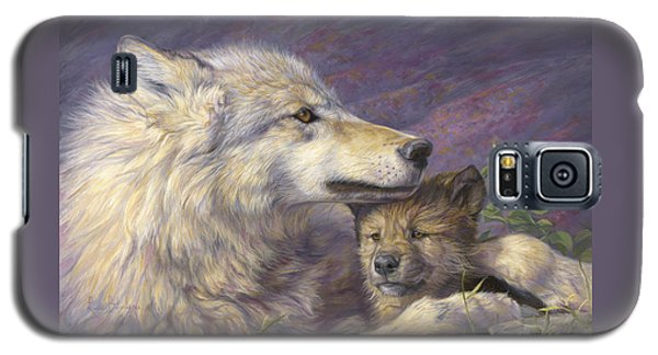 Paintings Galaxy S5 Cases - Mothers Love Galaxy S5 Case by Lucie Bilodeau