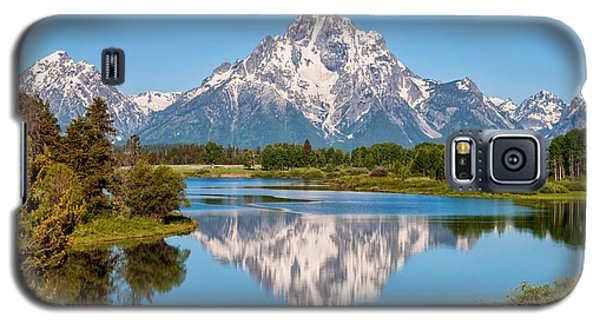 Green Galaxy S5 Cases - Mount Moran on Snake River Landscape Galaxy S5 Case by Brian Harig
