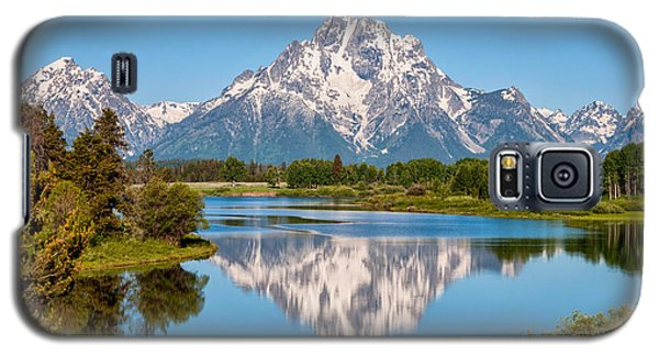 Mount Moran On Snake River Landscape Galaxy S5 Case by Brian Harig