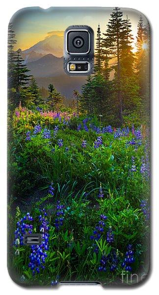Mount Rainier Sunburst Galaxy S5 Case by Inge Johnsson