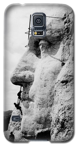 Mount Rushmore Construction Photo Galaxy S5 Case by War Is Hell Store