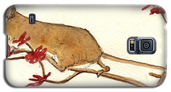 Mouse Flowers Galaxy S5 Case by Juan  Bosco