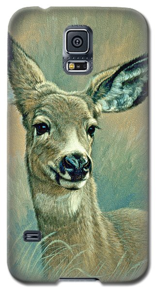 Muley Fawn At Six Months Galaxy S5 Case by Paul Krapf
