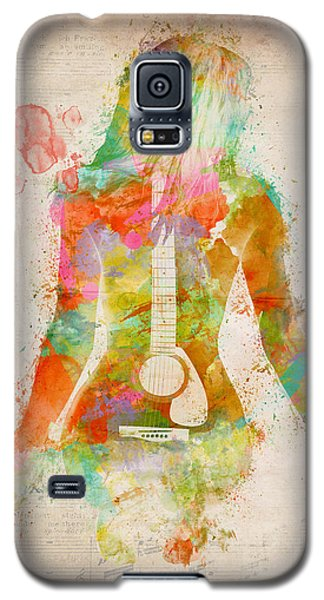Celebrities Galaxy S5 Cases - Music Was My First Love Galaxy S5 Case by Nikki Marie Smith