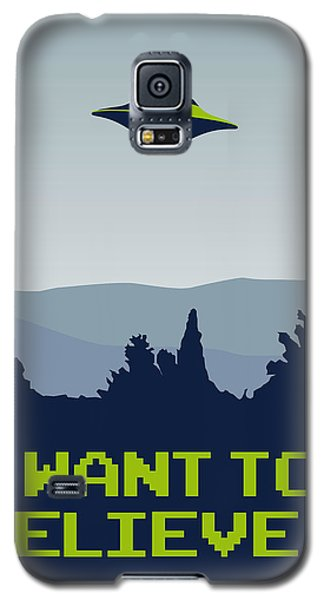 My I Want To Believe Minimal Poster Galaxy S5 Case by Chungkong Art