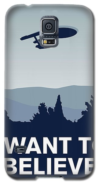 My I Want To Believe Minimal Poster-enterprice Galaxy S5 Case by Chungkong Art