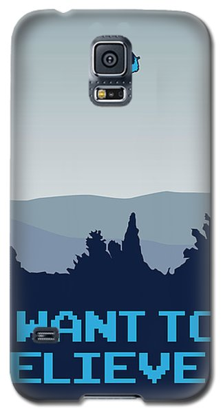 My I Want To Believe Minimal Poster- Tardis Galaxy S5 Case by Chungkong Art