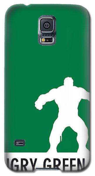 My Superhero 01 Angry Green Minimal Poster Galaxy S5 Case by Chungkong Art