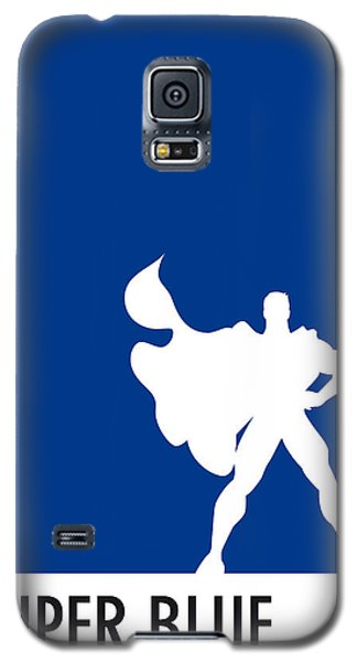 My Superhero 03 Super Blue Minimal Poster Galaxy S5 Case by Chungkong Art