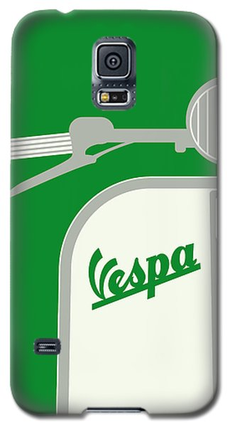My Vespa - From Italy With Love - Green Galaxy S5 Case by Chungkong Art