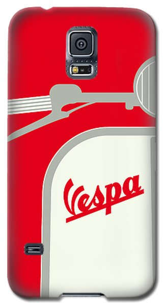 My Vespa - From Italy With Love - Red Galaxy S5 Case by Chungkong Art