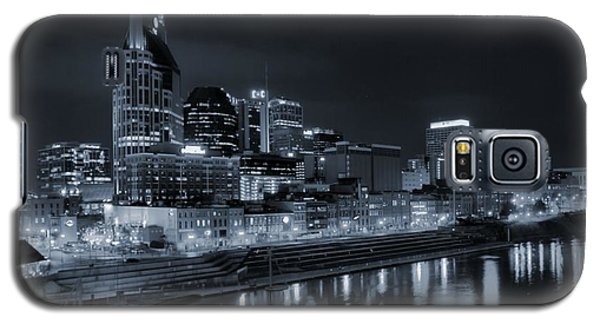 Nashville Skyline At Night Galaxy S5 Case by Dan Sproul