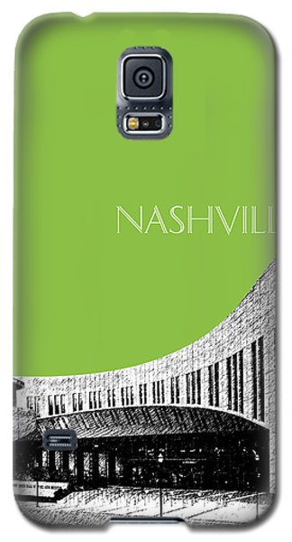 Nashville Skyline Country Music Hall Of Fame - Olive Galaxy S5 Case by DB Artist
