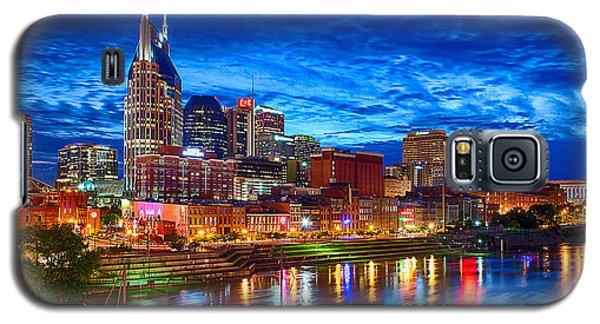 Skylines Galaxy S5 Cases - Nashville Skyline Galaxy S5 Case by Dan Holland