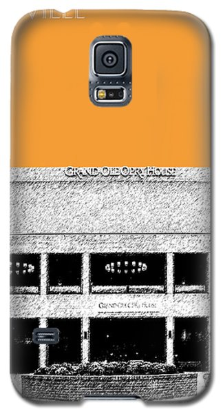 Nashville Skyline Grand Ole Opry - Orange Galaxy S5 Case by DB Artist