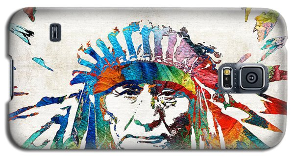Native American Art - Chief - By Sharon Cummings Galaxy S5 Case by Sharon Cummings