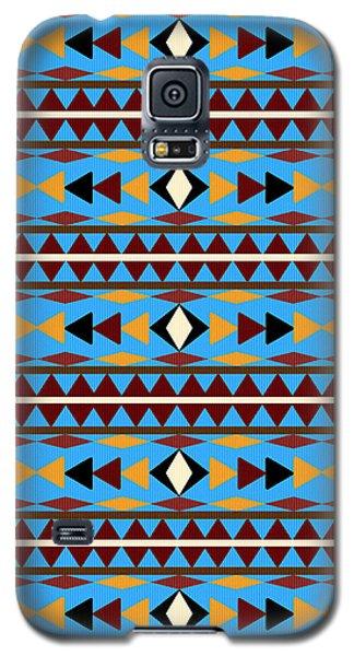 Navajo Blue Pattern Galaxy S5 Case by Christina Rollo