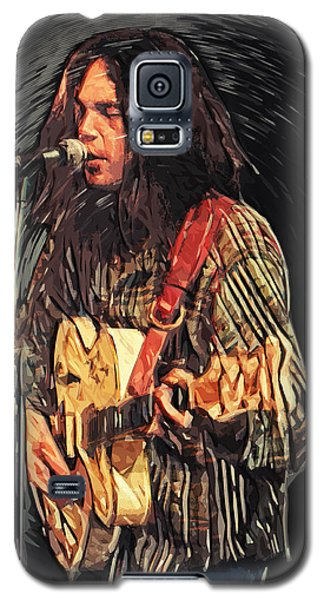 Neil Young Galaxy S5 Case by Taylan Soyturk