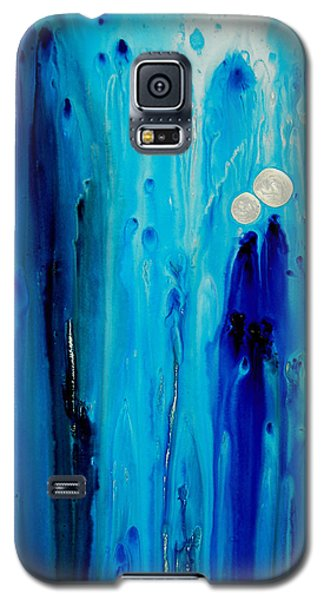 Blue Galaxy S5 Cases - Never Alone By Sharon Cummings Galaxy S5 Case by Sharon Cummings