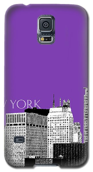New York Skyline Chrysler Building - Purple Galaxy S5 Case by DB Artist