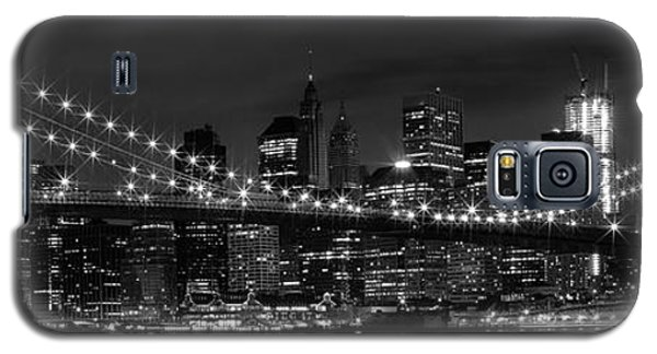 Night-skyline New York City Bw Galaxy S5 Case by Melanie Viola
