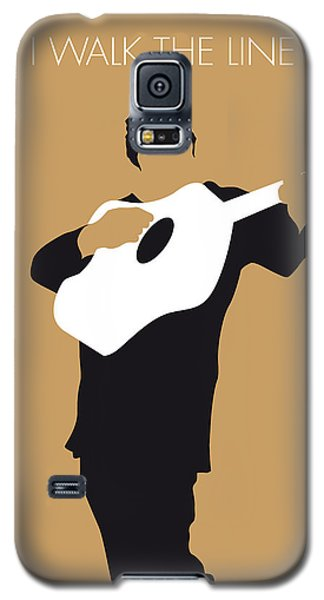 No010 My Johnny Cash Minimal Music Poster Galaxy S5 Case by Chungkong Art
