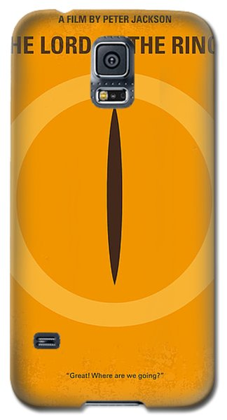 No039 My Lord Of The Rings Minimal Movie Poster Galaxy S5 Case by Chungkong Art