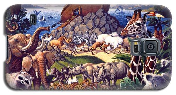 Animals Galaxy S5 Cases - Noahs Ark Galaxy S5 Case by Mia Tavonatti
