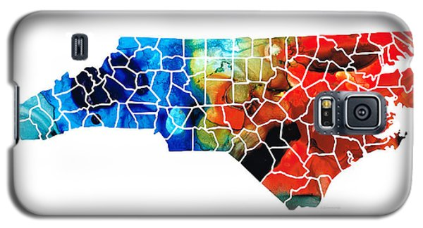 North Carolina - Colorful Wall Map By Sharon Cummings Galaxy S5 Case by Sharon Cummings