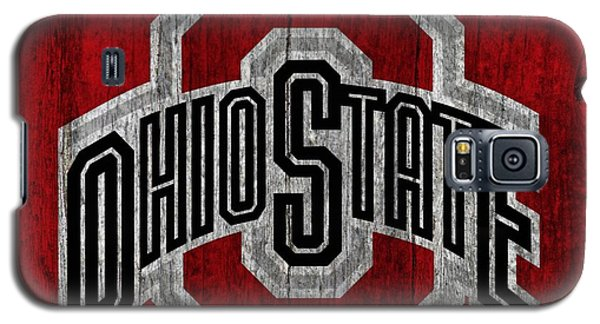 Ohio State University On Worn Wood Galaxy S5 Case by Dan Sproul