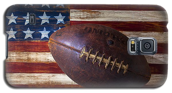 Old Football On American Flag Galaxy S5 Case by Garry Gay