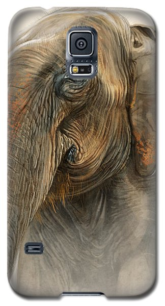 Old Lady Of Nepal 2 Galaxy S5 Case by Aaron Blaise