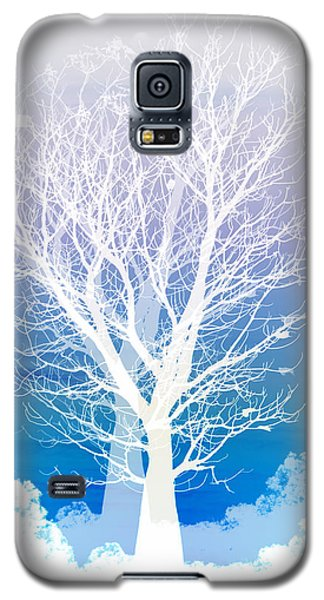 Blue Galaxy S5 Cases - Once upon a moon lit night... Galaxy S5 Case by Holly Kempe