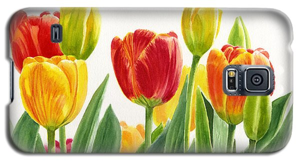 Orange And Yellow Tulips Horizontal Design Galaxy S5 Case by Sharon Freeman
