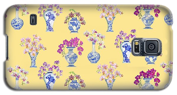 Oriental Vases With Orchids Galaxy S5 Case by Kimberly McSparran
