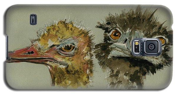 Ostrichs Head Study Galaxy S5 Case by Juan  Bosco